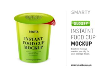 Glossy instant food cup mockup 4358120 8