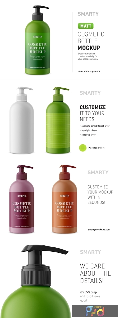 Matt cosmetic bottle mockup 4357800 1