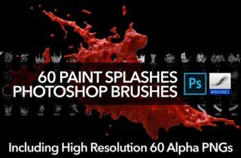 60 Paint Splash Brushes for PS 4388616 4