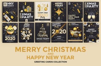 Christmas and Happy New Year flyers 4356290 7