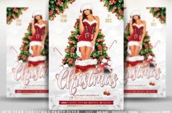 Christmas New Year Party Flyer 4387388 7
