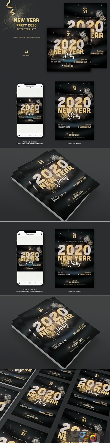 New Year Party Flyer Gold 4385454 1
