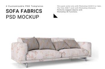 Sofa and Throw Pillows Set 3771292 7
