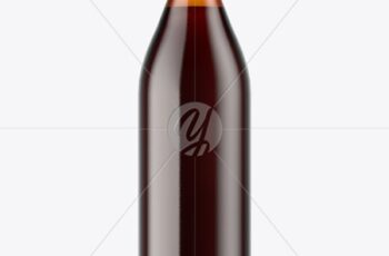 Amber Glass Bottle With Red Ale Mockup 51517 3