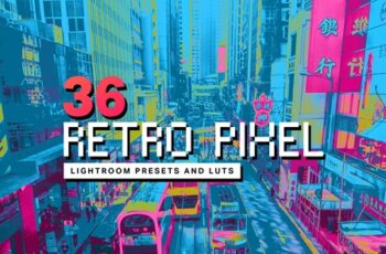 36 Retro Pixel Lightroom Presets 4310621 5
