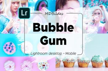 Lightroom Preset, Bubble Gum, Mobile 4415304 3