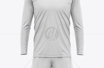 Men's Long Sleeve Soccer Kit Mockup - Front 51671 2