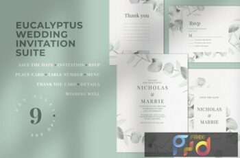 Eucalyptus Wedding Invitation Suite 297TKTX 7
