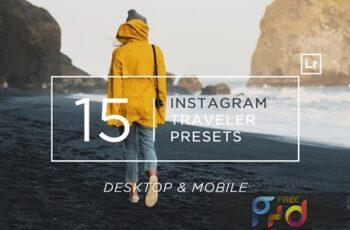 15 Instagram Traveler Ligtroom Presets + Mobile 66XFDGA 2