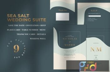 SEA SALT - Wedding Invitation Suite Q2MVZZB 6
