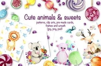 Cute Animals & Sweets Collection 2323290 5