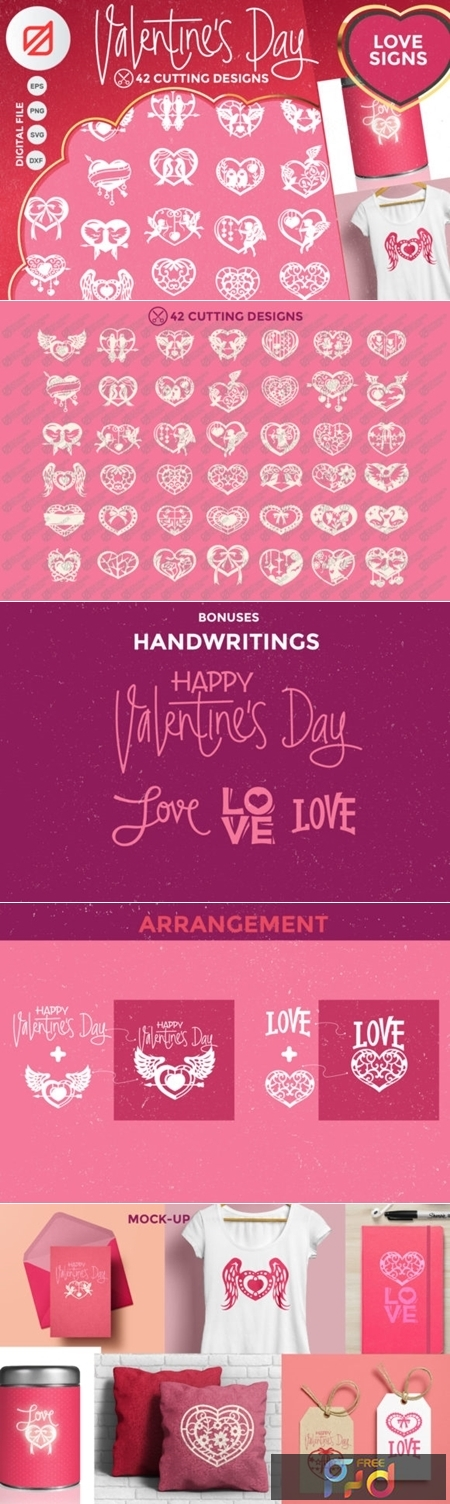 Happy Valentines Day Love Signs Cutting 2324811 1