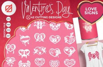 Happy Valentines Day Love Signs Cutting 2324811 4