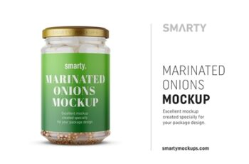 Marinated onions jar mockup 4411641 8