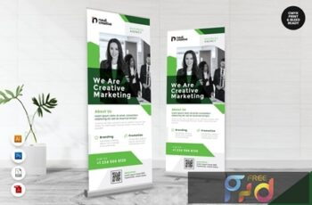 Creative Roll Up Banner AI & PSD Templates Vol. 13 DETGDNX 8