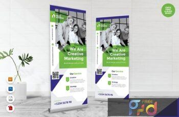 Creative Roll Up Banner AI & PSD Templates Vol. 17 7CMY28Z 6