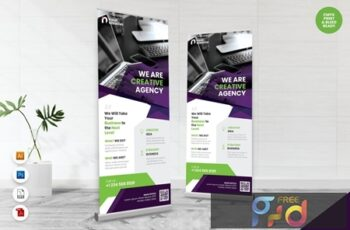 Creative Roll Up Banner AI & PSD Templates Vol. 18 LPK2G9X 7