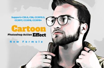 Cartoon Effect Photoshop Action 4329332 3