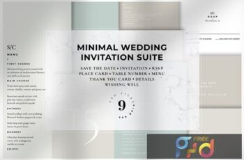 Minimal Wedding Invitation Suite 2GKNYK8 5