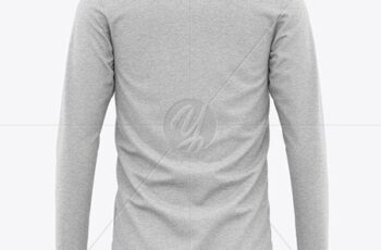Mens Heather Long Sleeve T-Shirt Mockup 51406 12