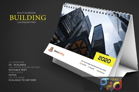 2020 Business Calendar Desk Pro DCT78QB 1