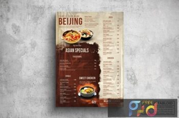 Chinese Poster Food Menu - A3 & US Tabloid MZNGEN6 4
