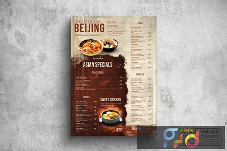 Chinese Poster Food Menu - A3 & US Tabloid MZNGEN6 1