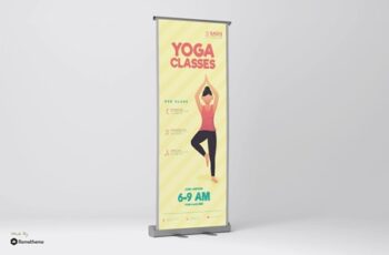 Girls Yoga Club - Rollup Banner GR 7