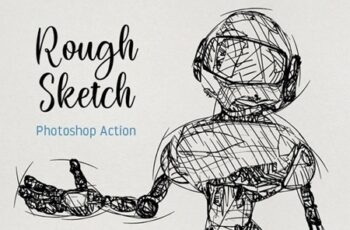 Rough Sketch Photoshop Action 25201896 5