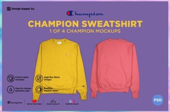 Champion Sweatshirt Mockup 4331780 7
