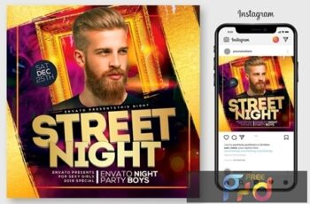 Street Night Party Flyer 4444983 1