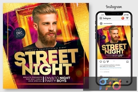 Street Night Party Flyer 4444983 1