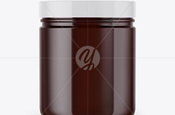 Amber Cosmetic Jar Mockup 53421 3
