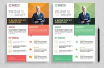 Corporate Flyer Layout with Colorful Accents 313872991 8
