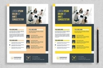 Flyer Layout with Colorblock Elements 313873087 6