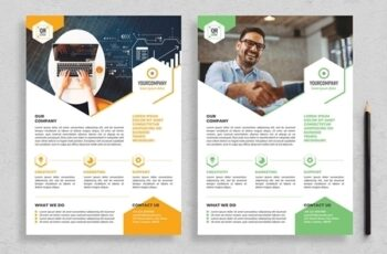 Flyer Layout with Hexagonal Elements 313873043 4