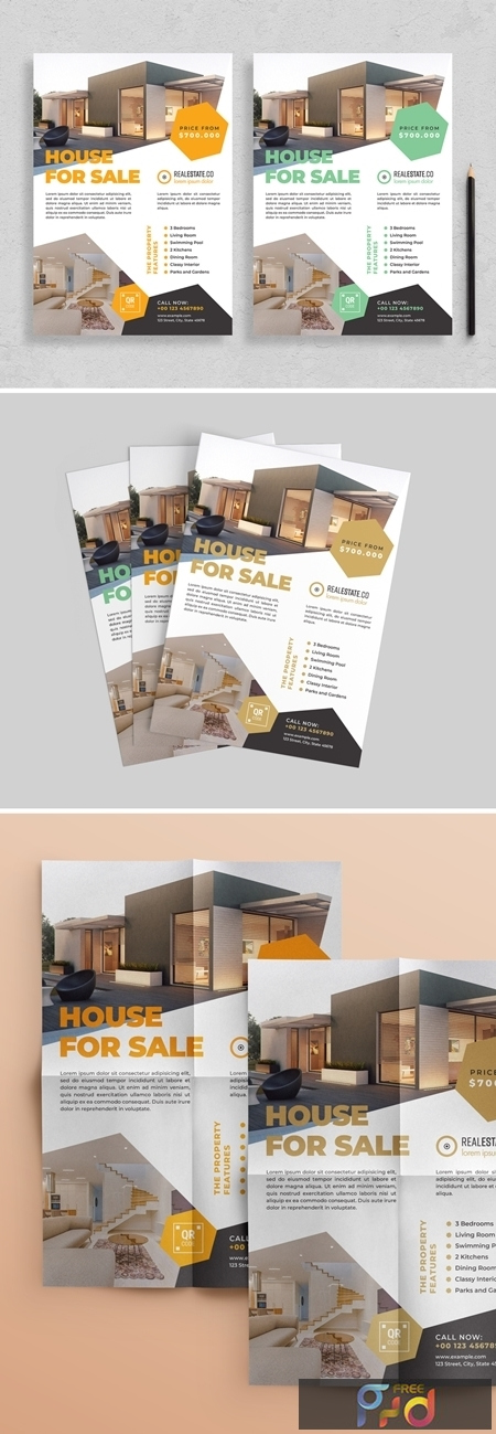 Flyer Layout with Hexagonal Elements 313873247 1