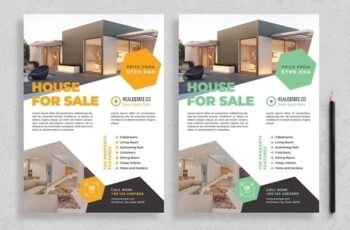 Flyer Layout with Hexagonal Elements 313873247 2