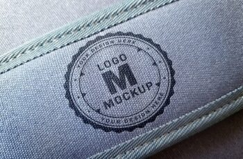 Logo Mockup on Denim Bag Handle 312949887 5
