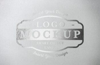 Metallic Paper Pressed Logo Mockup 313648341 9