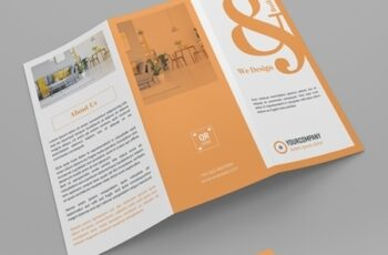 Orange and White Trifold Brochure Layout 313873159 8