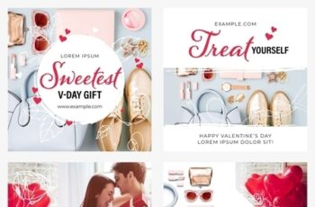 Valentines Day Social Media Post Layout Set 312957776 5
