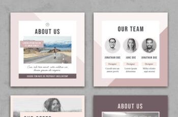 Faded Pastel Pink Social Media Square Post Layouts 314311286 3