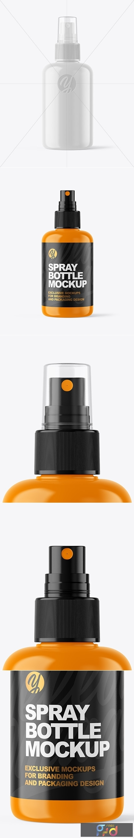 Glossy Spray Bottle Mockup 53473 1