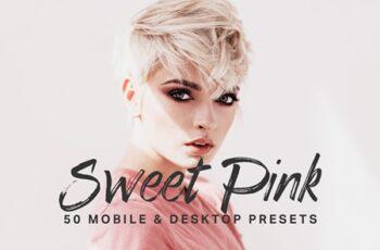 50 Sweet Pink Lightroom Presets LUTs 4435853 6