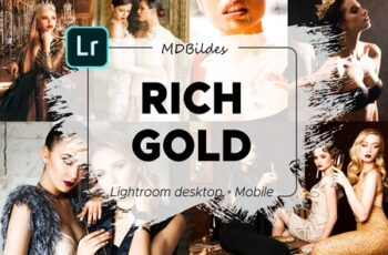 Lightroom Preset, RICH GOLD, Mobile 4385712 5