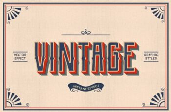 Vintage Text Effects (Illustrator) 3584064 3