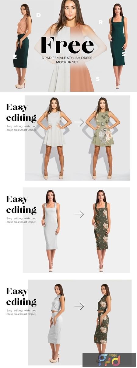 Free Female Dress Mockups 431793 1