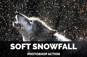 Soft Snowfall Photoshop Action 4387353 2