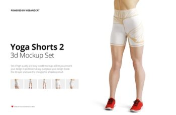 Yoga Shorts 2 Mock-up 4272508 4